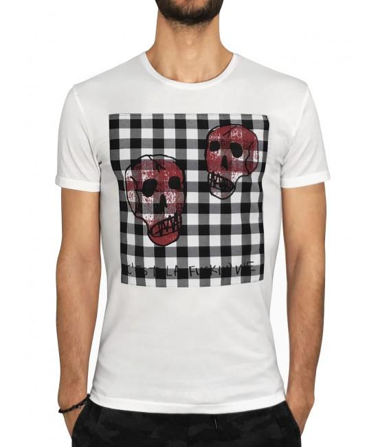 CHECK SKULL t-shirt T-SHIRT