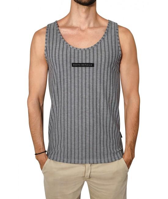 STRIPES vest T-SHIRT
