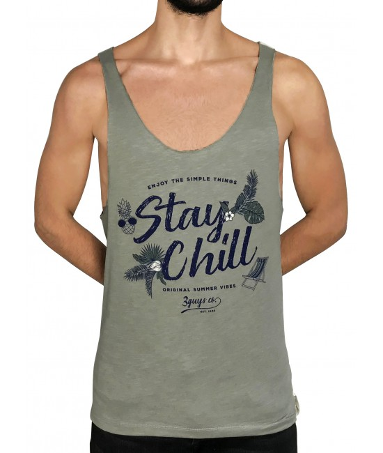 STAY CHILL vest T-SHIRT