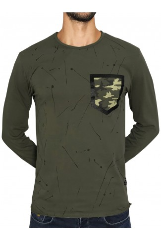 ARMY POCKET blouse