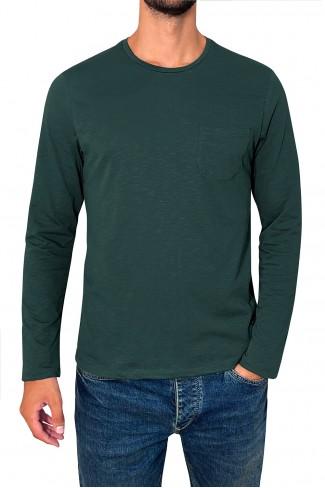 OVAL POCKET LONG blouse