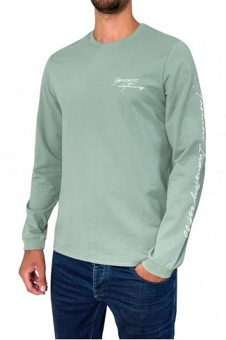 PRINT SLEEVE hoodie blouse
